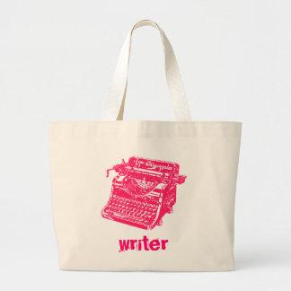 Vintage Roze Schrijfmachine Grote Draagtas