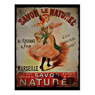 Vintage Savon Naturel Briefkaart