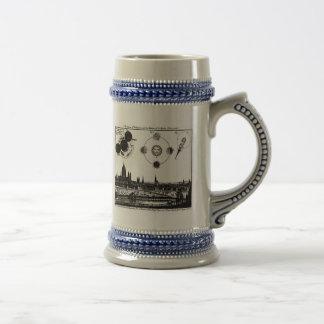 Vintage Schets van 1748 Verduisteringen van de Zon Bierpul