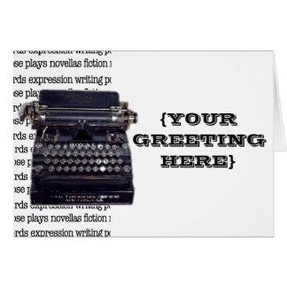 Vintage Schrijfmachine Briefkaarten 0