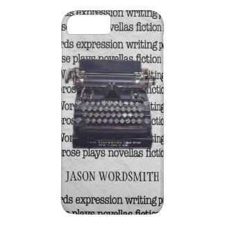 Vintage Schrijfmachine met Getypte Woorden iPhone 8/7 Plus Hoesje