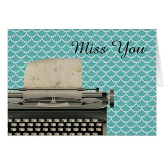 Vintage Schrijfmachine Misser You Kaart