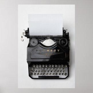 Vintage Schrijfmachine Poster