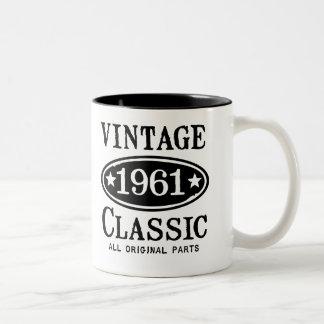 Vintage Schrijver uit de klassieke oudheid 1961 Tweekleurige Koffiemok