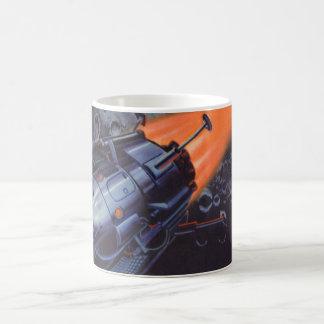Vintage Science fiction, de Raket die van de Maan Koffiemok
