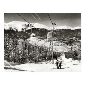 Vintage skiafbeelding, Skilift Briefkaart