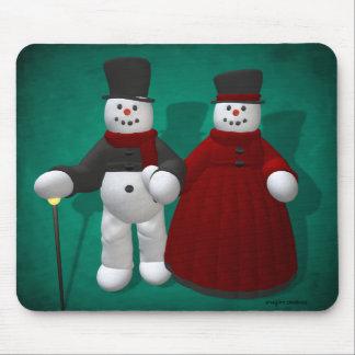 Vintage Sneeuwmannen: Lord & Dame Cool Muismat