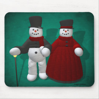 Vintage Sneeuwmannen: Lord & Dame Cool Muismatten