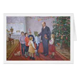 Vintage Socialistische Kerstmis van het Realisme Kaart