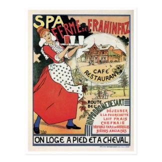 Vintage Spa België het restaurantadvertentie van Briefkaart