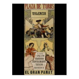 Vintage Spaans stierenvechten Valencia Briefkaart