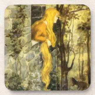 Vintage Sprookje, Rapunzel met het Lange Haar van Onderzetter
