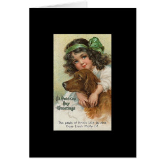 Vintage St. Patrick van het Meisje en van de Hond Briefkaarten 0