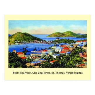 Vintage St. Thomas Virgin Islands Briefkaart