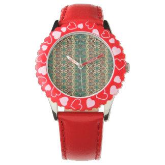 Vintage stammen Azteeks patroon Horloges