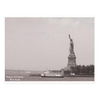 Vintage Standbeeld van Vrijheid New York Briefkaart