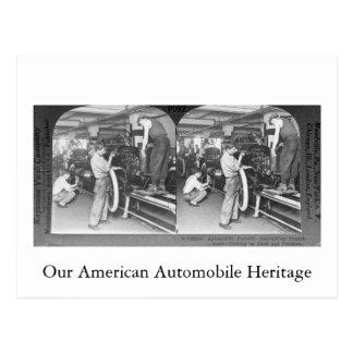 Vintage Stereoview Onze Automobiele Erfenis Briefkaart