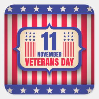 Vintage sticker voor de dag van Veteranen