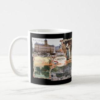 Vintage stijl Holland Oud Amsterdam Koffiemok