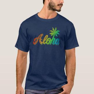 Vintage T-shirt Aloha - Klassieke Regenboog Hawaï