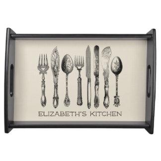 Vintage Tafelzilver Uw Keuken Dienblad