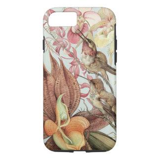 Vintage Tropische Orchideeën, Bloemen en Kolibries iPhone 7 Hoesje