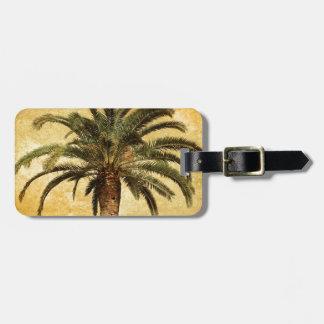 Vintage Tropische Palm Kofferlabel