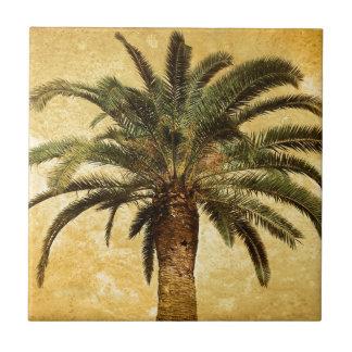 Vintage Tropische Palm Tegeltje