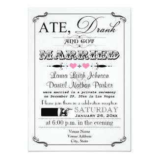 Vintage Uitnodiging 2 van het Huwelijk van het
