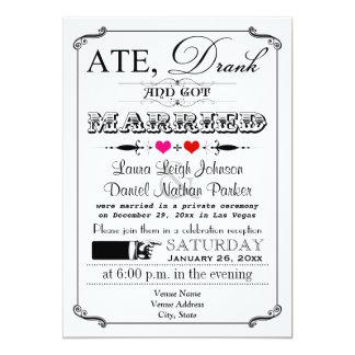 Vintage Uitnodiging 4 van het Huwelijk van het