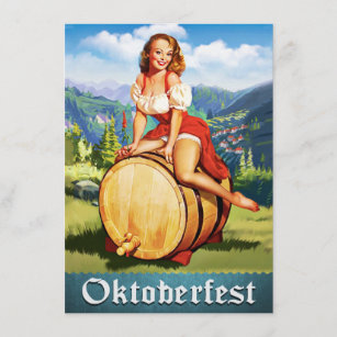 Vintage Uitnodiging Oktoberfest