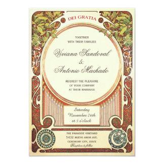 Vintage Uitnodigingen I van het Huwelijk van de