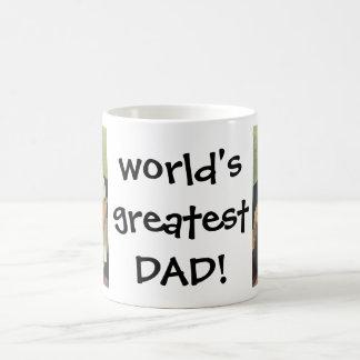 Vintage Vaderdag, Papa die Baby een Fles geven Koffiemok