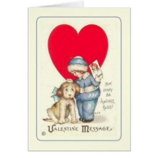 Vintage Valentijn Kaart