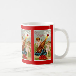 Vintage Valentijn met het Kanon van het Hart Koffiemok