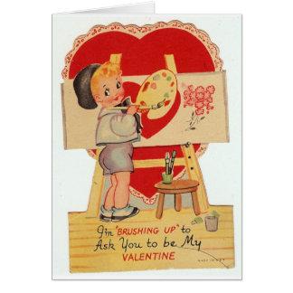 Vintage Valentijn Weinig Kunstenaar Briefkaarten 0