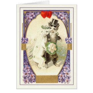 Vintage Valentijn Wenskaart
