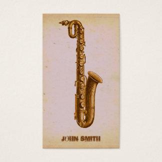 Vintage Van de Bedrijfs muziek van de Saxofoon van Visitekaartjes