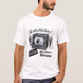 Vintage van de Kitsch van de Televisie B&w- TV- T Shirt