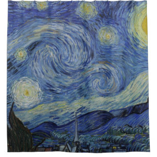 Vintage Van Gogh Starry Nacht Douchegordijn