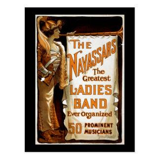 "Vintage Vaudeville ""Navassars"" Briefkaart"