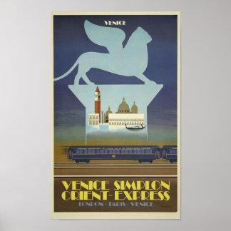 Vintage Venetië Simplon oriënteert het Poster van