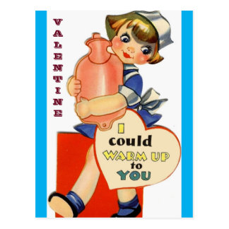 Vintage Verpleegster: De Kaart van Valentijn voor Briefkaart