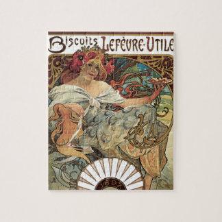 Vintage Victoriaans Jugendstil door Alphonse Mucha Puzzel