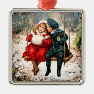 Vintage Victoriaans Kinderen op het Ornament van