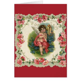 Vintage Victoriaans Valentijnsdag, Cherubijn op Briefkaarten 0