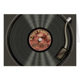 Vintage VinylVerslag (red) Wenskaart