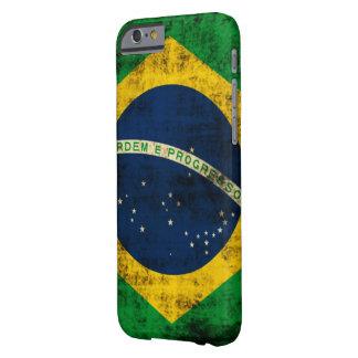 Vintage Vlag Grunge van Brazilië Barely There iPhone 6 Hoesje