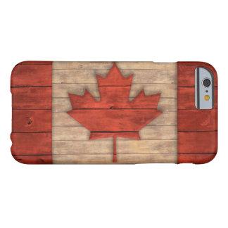 Vintage Vlag van Canada Verontrust Houten Ontwerp Barely There iPhone 6 Hoesje