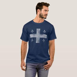 Vintage Vlag van Quebec Canada T Shirt